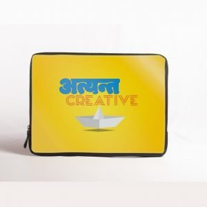 atyant creative yellow laptop sleeve