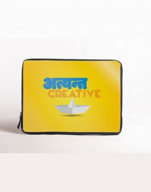 atyant creative yellow laptop sleeve
