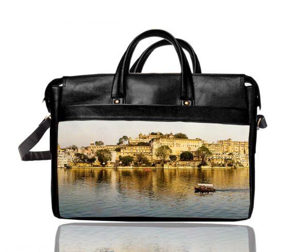 udaipur printed laptop bag