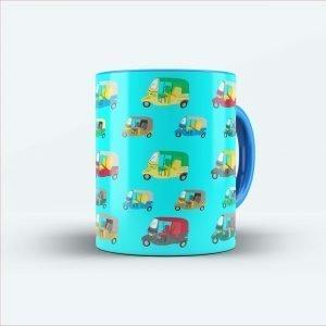 auto riksha printed mug