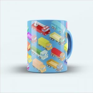 truck multicolour printed mug