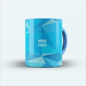 hocus focus blue mug