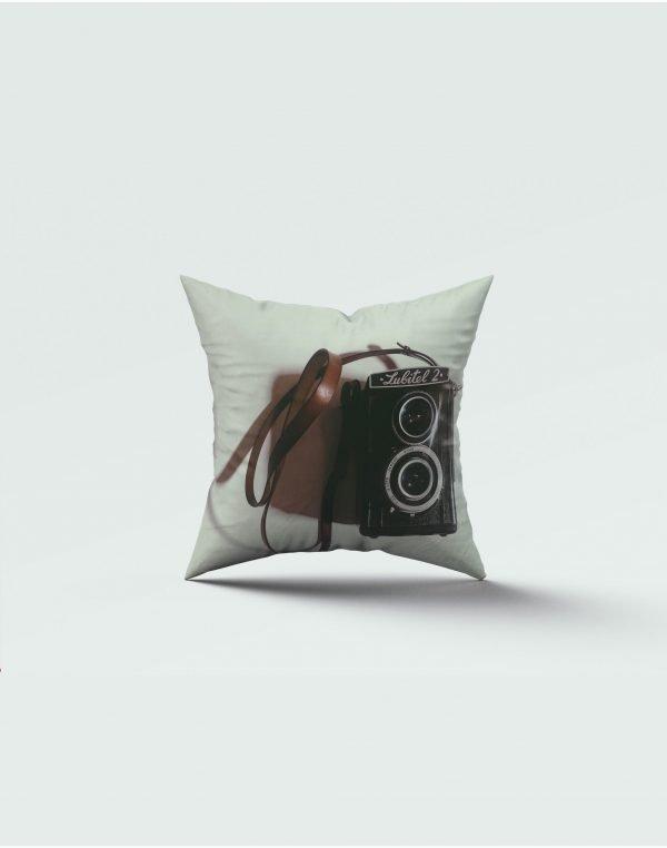 camera print cushion