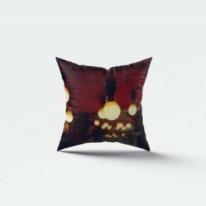 Bulb print cushion