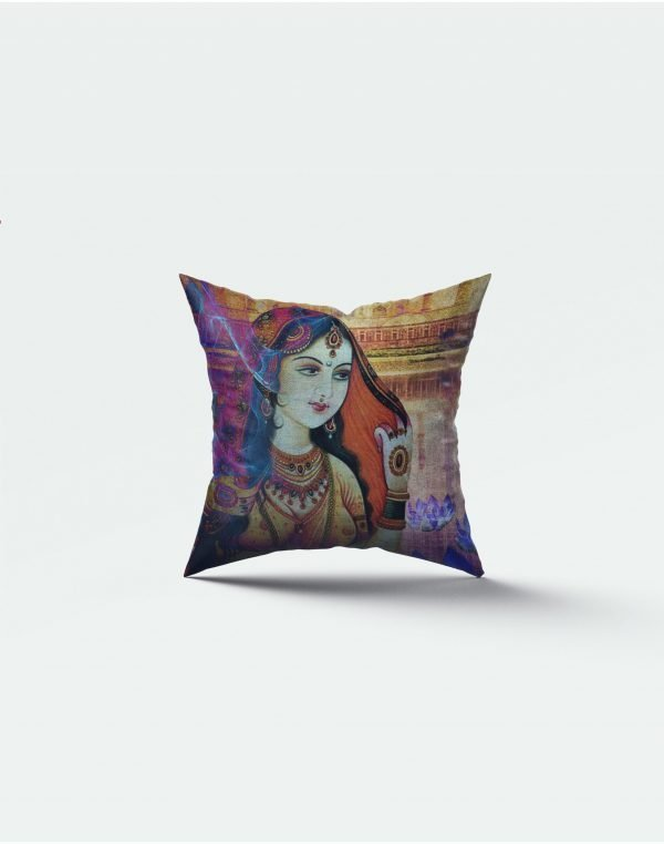 Old Lady print cushion