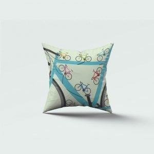 Cycle print cushion