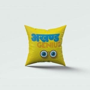 Akhand genius print cushion