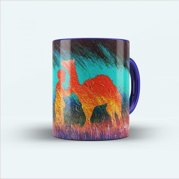 camel painting printed mug