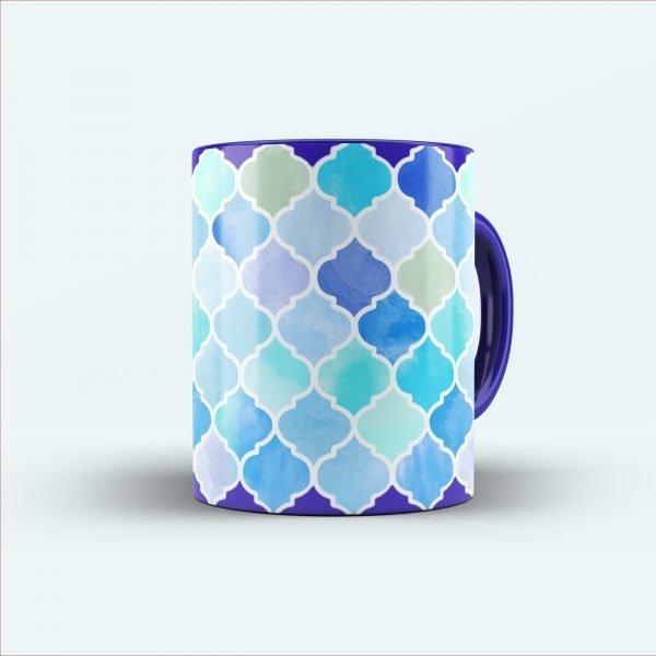 multicolor printed mug