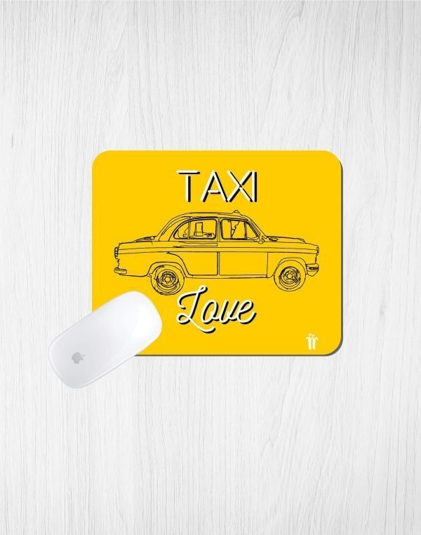 taxi love mouse pad