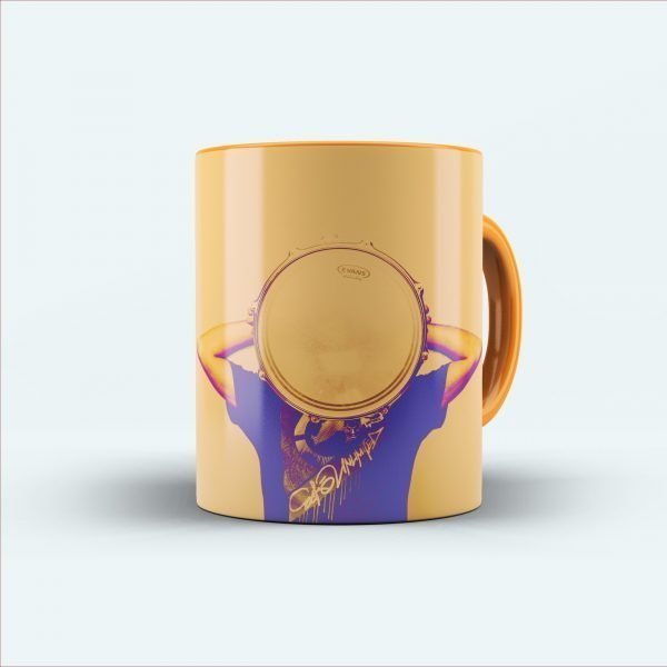 Plate on face printed mug