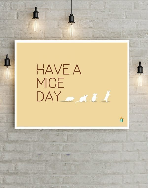 have a nice day wall poster