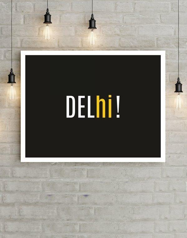 Delhi! wall poster black
