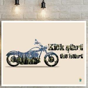 kick start the heart wall poster