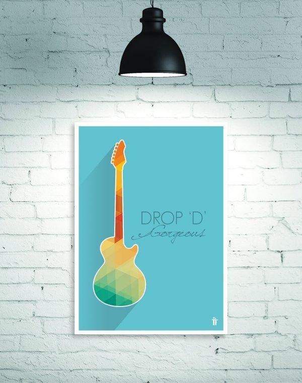 drop d guitar wall poster
