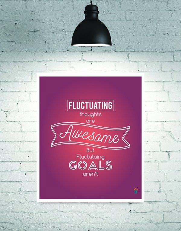 fluctuating awesome goals wall poster