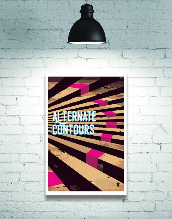 alternate contours wall poster