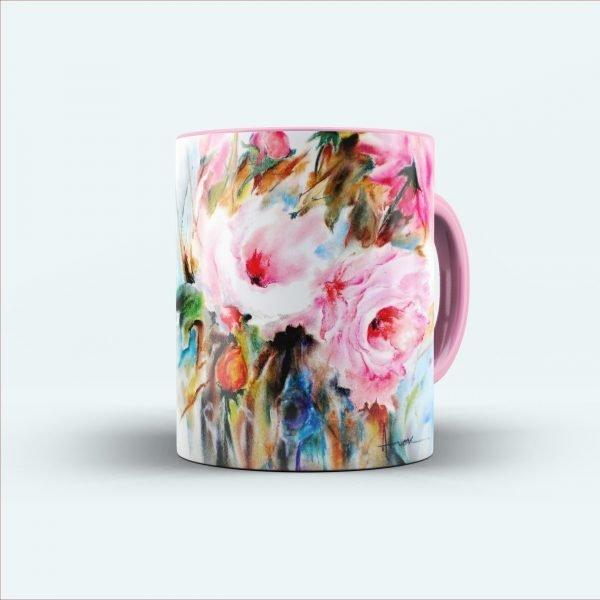 rose printed mug