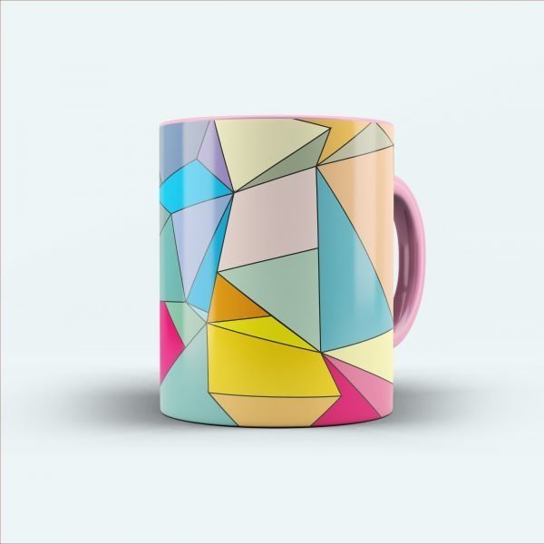 multicolour printed mug