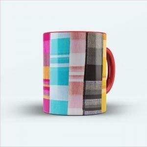 multicolour cloth painting printed mug