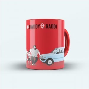 daddy thee gaddi red printed mug
