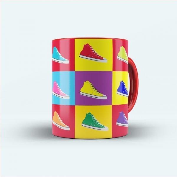 sneaker printed multicolour mug