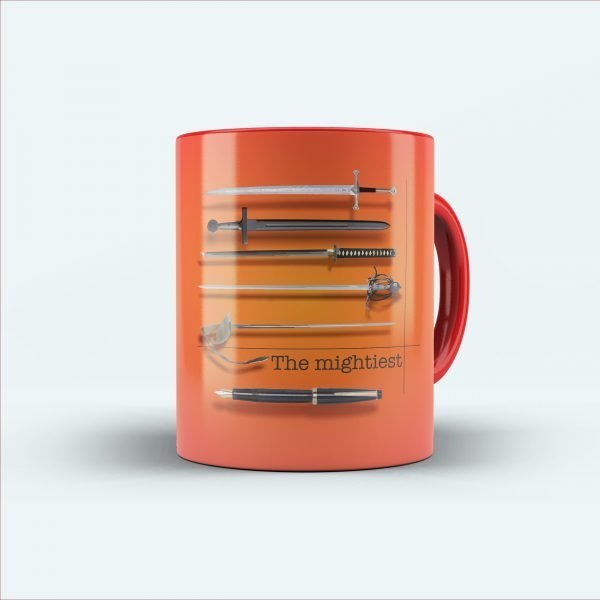 the mightiest sword printed mug