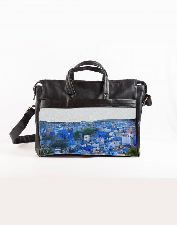 Jodhpur blue city laptop bag