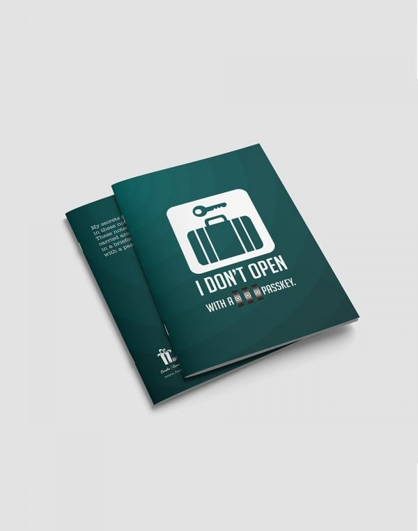 quote printed high quality notebook3