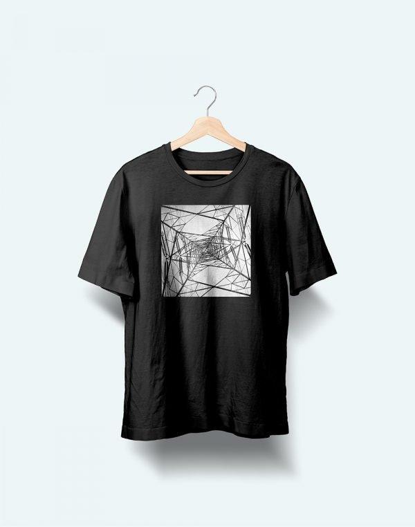 black web printed t shirt
