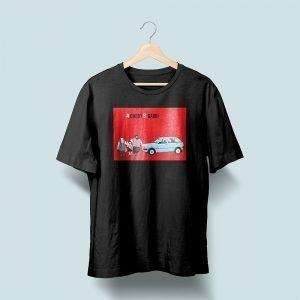car printed t shirt