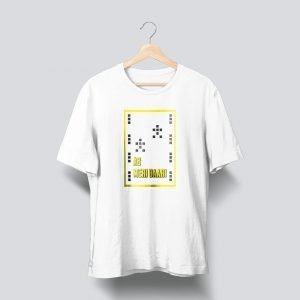white yellow printed t shirt