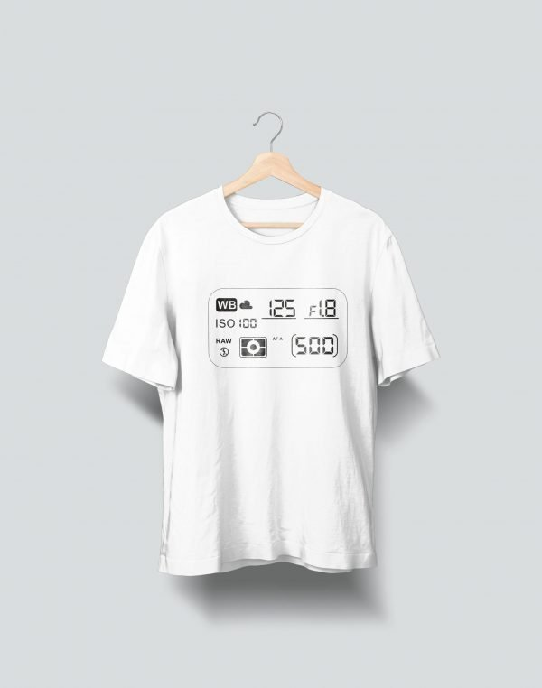 white t shirt printed