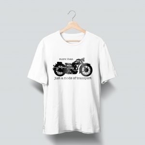 bike printed white t shirt