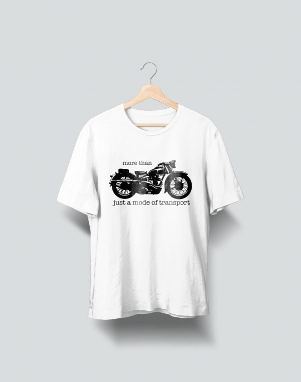 bike printed white t shirt