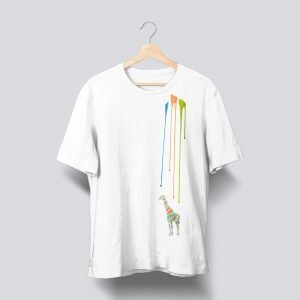 giraffe white t shirt