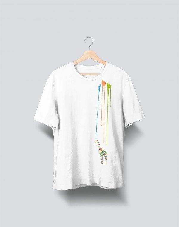 giraffe white t shirt