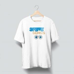 akhand genius white tshirt